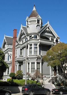 Then, Now & Forever® - The Victorian Era Color Collection Haas-Lilienthal home 1886 San Francisco Beautiful Buildings, Beautiful Homes, Beautiful Places, Victorian Style Homes, Victorian Gothic, Victorian Life, Monuments, Victorian Architecture, Victorian Buildings