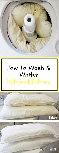 wash  Whiten pillows