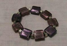 I'm selling Mauve and silver foil bracelet - A$10.00