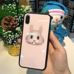 Unique Animoji Luxury Tempered Glass Cover Cases For Your iPhone X