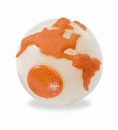 Planet Dog Orbee ball--smells like peppermint and it floats!