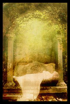 She went then to the gardens of Lórien and lay down to sleep; but though she seemed to sleep, her spirit indeed departed from her body, and passed in silence to the halls of Mandos. The maidens of Estë tended the body of Míriel, and it remained unwithered; but she did not return.
