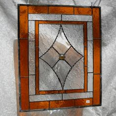 Traditional Victorian Cottage Vintage Look Stained Glass Window