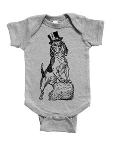 Beagle Baby Jumpsuit - Infant Boy Clothes - Infant One Piece - Baby Romper - Dog - Newborn Gift - Gift for New Mother - Cotton Baby Clothes Baby Jumpsuit, Romper, Gifts For New Mothers, Newborn Gifts, Baby Bodysuit, Beagle, Baby Boy Outfits, Onesies, Infant