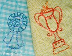 ribbon/trophy embroidery
