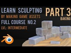 Make Game Assets by Sculpting - Stones - Part 3 - Baking