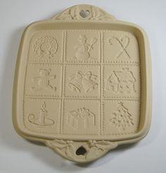 1992 Hill Design Brown Bag Christmas Cookie Shortbread Pan Mold   eBay