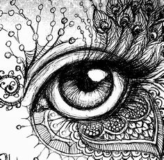 bleistift bleistiftYou can find Eyelashes and more on our website. Doodle Art Drawing, Zentangle Drawings, Pencil Art Drawings, Art Drawings Sketches, Cool Drawings, Mandala Art, Mandala Drawing, Eyes Artwork, Eye Art