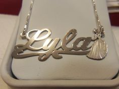 Great Nameplates for kids. Available in gold or silver