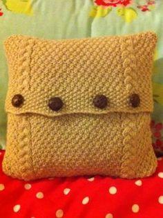 Inishmore Cushion Pattern - Knitting Patterns by Torya Winters