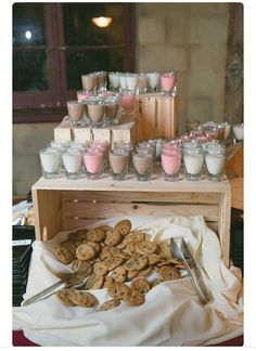 milkshake and cookies table (kids) or milkshake shots (adults)