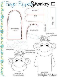 Monkey finger puppet pattern