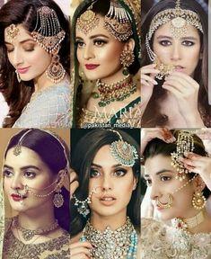stunning bridel look Pakistani Bridal Hairstyles, Pakistani Bridal Jewelry, Pakistani Wedding Outfits, Indian Wedding Jewelry, Bridal Outfits, Pakistani Dresses, Bridal Makeup Looks, Bridal Looks, Bridal Style