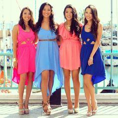 light colorful summer dresses