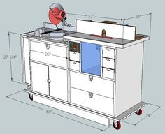 Planning the Makeover #3: SketchUp Plans - Miter Saw & Router Mobile Workstation - by Jei'son @ LumberJocks.com ~ woodworking community