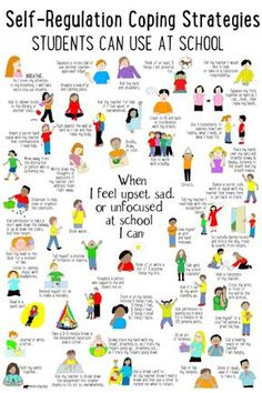 Coping strategies kids can use at school for self-regulation when they feel big emotions. Education Positive, Kids Education, Positive Behavior, Higher Education, Special Education, Behaviour Management, Classroom Management, Anger Management Kids, Classroom Behavior