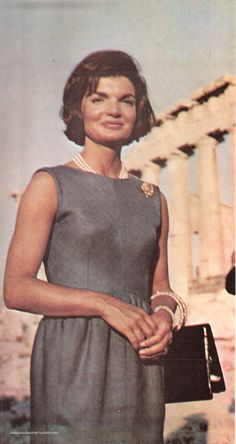 "jackieandaudrey: "" Jackie in Greece. (Scan from the magazine A Salute to Jacqueline Kennedy) """