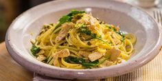 Try this Tuna, Lemon & Rocket Spaghetti  recipe by Chef Michela Chiappa . This recipe is from the show Michela's Tuscan Kitchen.