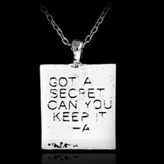 Popular Pretty Little Liars Got A Secret Can You Keep It Silver Plated Pendant Statement Necklace