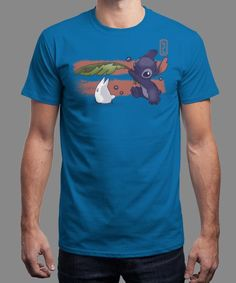 """""""The Spirit of Ohana"""" is today's £8/€10/$12 tee for 24 hours only on www.Qwertee.com Pin this for a chance to win a FREE TEE this weekend. Follow us on pinterest.com/qwertee for a second! Thanks:)"""