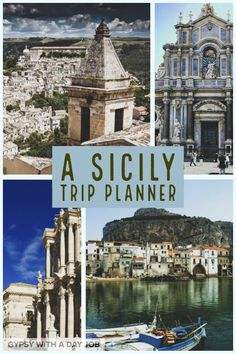 A Sicily Trip Planner If you are planning to visit Sicily, you want a perfect itinerary. A Sicily trip planner to outline 5 days in Siciliy, and your own perfect 5 day Sicily itinerary. Sicily Travel, Italy Travel Tips, Europe Travel Guide, Travel Destinations, Travel Abroad, Budget Travel, Travel Guides, Travel Planner, Trip Planner