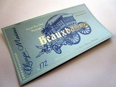 French Wizarding School Stagecoach Ticket by LegendaryLetters