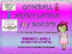 9-15-2015: Another major product revision has been completed!  Please re-download this product if previously purchased.  We have made a detailed /G/ sound articulation therapy packet now.  It is full of fun interactive activities, games and worksheets.