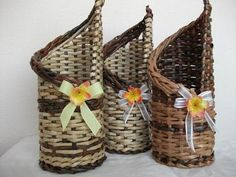 Плетение из газетных трубочек_Для начинающих