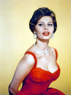 The classic red dress.
