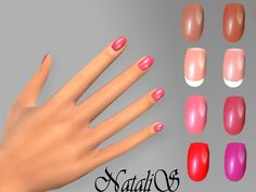 Vernis a ongle fille sims 4