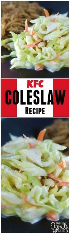 This KFC Coleslaw Recipe tastes just like what they serve at the restaurant but for a fraction of the price! The perfect side dish for BBQs and potlucks! via @favfamilyrecipz