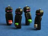 Minecraft Enderman Charm by oxygenimpulse on Etsy – Hobbies paining body for kids and adult Minecraft Clay Charms, Art Minecraft, Minecraft Crafts, Minecraft Party, Minecraft Stuff, Polymer Clay Projects, Diy Clay, Wallpaper Minecraft, Clay Keychain
