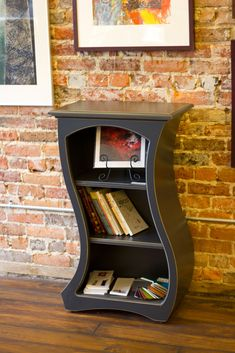 Dust Furniture - Bookcase No.12 in Black Paint. Designed by Vincent T Leman