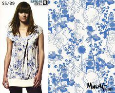 Supremebeing: Womenswear. SS/2009. Print Direction and Design.  © Mirella Bruno Print Designs. 2007.
