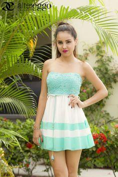 #Moda #Fashion #2015 #trendy #chic #femenino #vestidocorto #romatico #romantic #altereggo on.fb.me/1LwqAuN