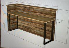 Reception Desk Design, Salon Reception Desk, Church Interior Design, Clothing Store Interior, Counter Design, Coffee Shop Design, Shop Interiors, Rustic Wood, Woodworking Plans