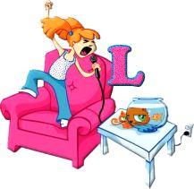 Alfabeto de chiquilla cantando a todo pulmón. | Oh my Alfabetos!