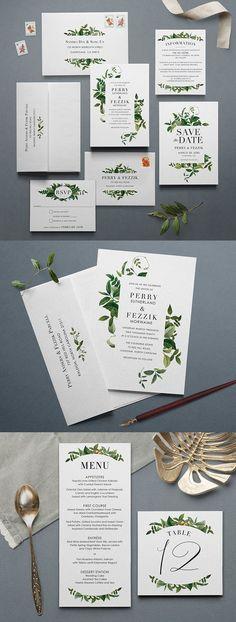 Tender Tendrils Suite from Printable Press #weddinginvitation