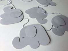 Grey Nursery Decor  Elephant Banner  baby by tinylittleforest, $7.00
