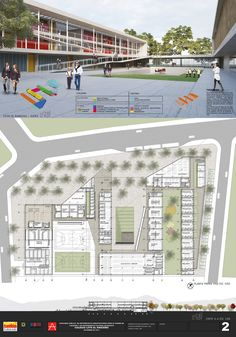Fourth Place Gallery Competition for the Design of Colleges and Cultural facilities - Theater in Bogotá / Colombia - 8 Cultural Architecture, Architecture Tools, University Architecture, Education Architecture, Concept Architecture, School Architecture, Victorian Architecture, Interior Architecture, School Building Design