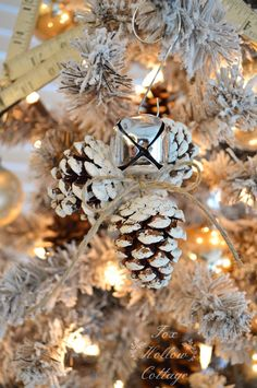 DIY Rustic Jingle Bell Pinecone Christmas Ornament Click Photo For How To