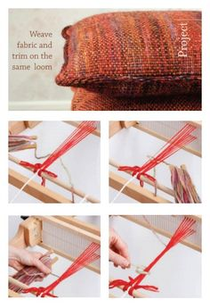 This trim for #rigidheddle projects is so versatile. Try it out on the pillows in this free eBook, then experiment with your own designs! #weaving