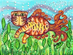 It's a swimming pussycat with fancy tail!  Venice Cat Fish by gatosilimitados.
