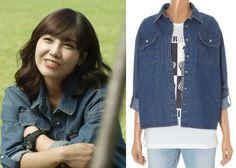 "Jung Eun-Ji in ""Trot Lovers"" Episode 6.  Plastic Island Denim Shirt #Kdrama #TrotLovers #트로트의연인 #JungEunJi #정은지"