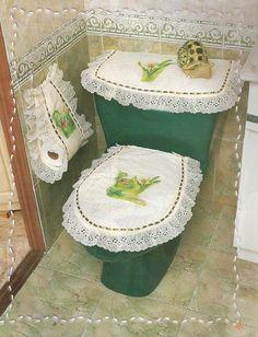 Juego de baño completo en foami con moldes - Imagui