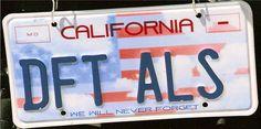 License plate.
