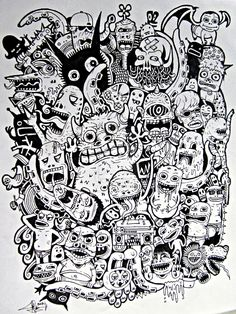 Line doodles, cool doodles, doodle cartoon, cartoon art, doodle monst Doodle Cartoon, Cartoon Drawings, Cartoon Art, Art Drawings, Doodle Art Posters, Doodle Art Journals, Line Doodles, Cool Doodles, Doodles Zentangles