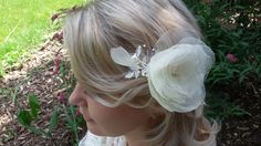 Haarschmuck & Kopfputz - Braut Kopfschmuck Haarkamm in Ivory - ein Designerstück von alw-design bei DaWanda