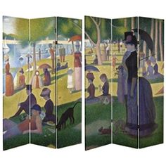 This large scale print of A Sunday Afternoon on the Island of La Grande Jatte must be seen. Half the image is shown on one side and the other is on the opposite side. If you love fine art, particularly Neo-impressionism, or know someone who does, this is the screen for you!