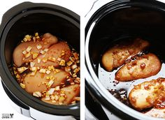 Slow Cooker Teriyaki Chicken + Crock-Pot this looks sooooo good Slow Cooker Huhn, Crock Pot Slow Cooker, Slow Cooker Chicken, Slow Cooker Recipes, Crockpot Recipes, Chicken Recipes, Cooking Recipes, Yummy Recipes, Slow Cooking